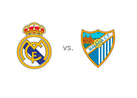 Real Madrid vs. Malaga - La Liga - Matchup and Team Logos