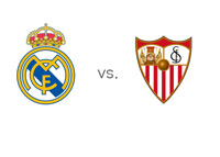 Spanish La Liga Matchup - Real Madrid vs. Sevilla - Team Logos