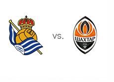 Real Sociedad vs. Shakhtar Donetsk - UEFA Champions League Matchup - Team Logos