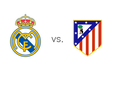 Real Madrid vs. Atletico Madrid - Spanish La Liga Matchup - Team Crests