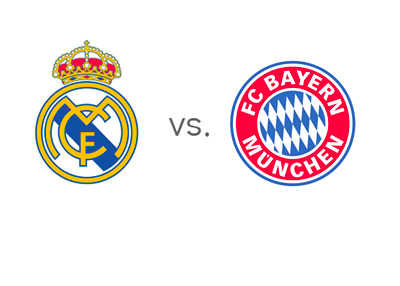 Real Madrid vs. Bayern Munich - UEFA Champions League - Team Logos / Badges / Crests