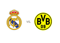 Real Madrid logo vs. Borussia Dortmund logo