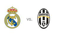 Real Madrid vs. Juventus - UEFA Champions League Matchup - Team Logos