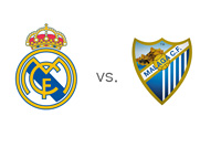 Spanish La Liga Matchup - Real Madrid vs. Malaga - Team Crests