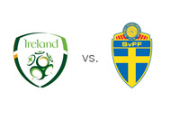 Republic of Ireland vs. Sweden - Matchup and National Team Badges