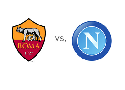 Italian Serie A Matchup - AS Roma vs. Napoli - Team Crests