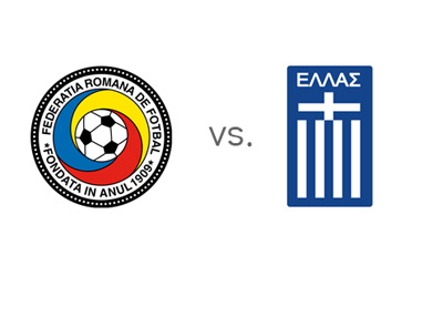 World Cup Qualifying - Romania vs. Greece - Team Logos