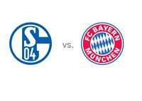 Bundesliga Matchup - Schalke 04 vs. Bayern Munich - Team Logos