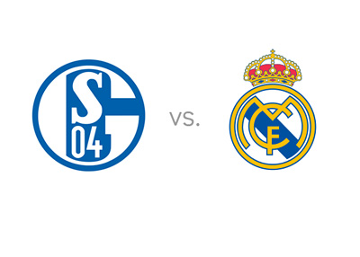 Schalke 04 vs. Real Madrid - UEFA Champions League Matchup - Team Logos / Badges / Crests - Favourite to Win - Odds