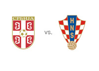 Serbian and Croatian Football Association Logos - Matchup