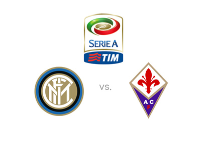 Inter vs. Fiorentina - team logos / matchup / preview - Italian Serie A - First division