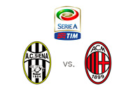 Serie A Matchup - Siena vs. AC Milan - Logos