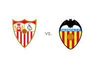 Sevilla FC vs. Valencia - Team Logos