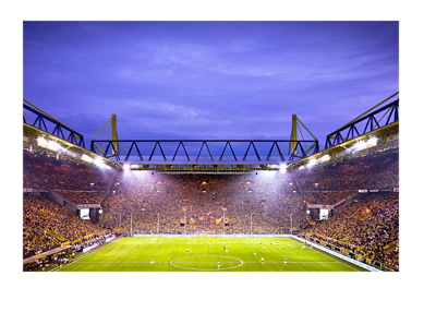 Borussia Dortmund stadium Signal Iduna Park - Night shot - Pinterest