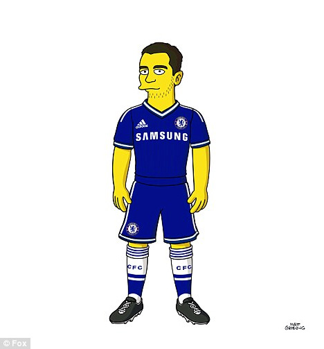 Eden Hazard from Chelsea FC as a Simpson Character