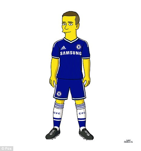 Fernando Torres from Chelsea FC as a Simpson Character