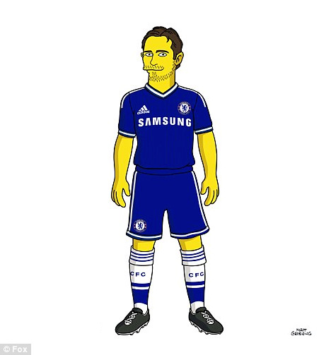Frank Lampard from Chelsea FC as a Simpson Character