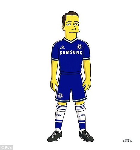 John Terry from Chelsea FC as a Simpson Character