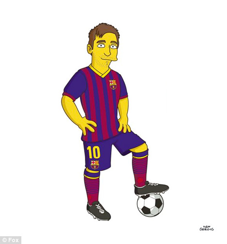 from Barcelona FC as a Simpson Character