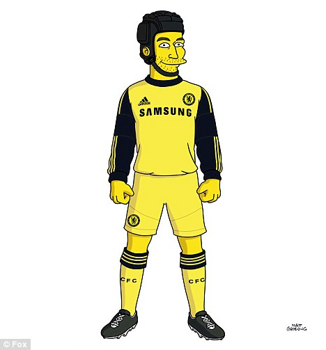 Petr Cech from Chelsea FC as a Simpson Character