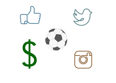 Concept / Illustration - The value of social media accounts for the sport of football