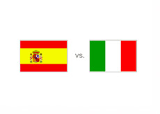 Spain vs. Italy - Matchup and Country Flags