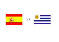 Spain vs. Uruguay - Matchup and Country Flags