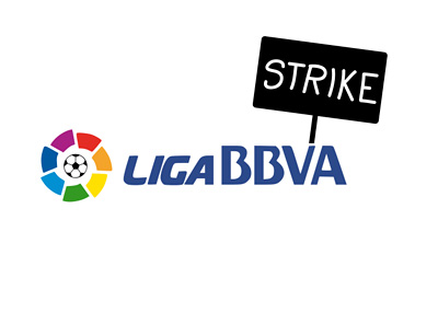 Spanish La Liga Strike - Logo - Illustration - Concept - Drawing
