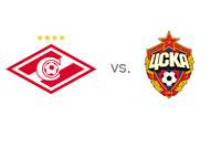 Spartak vs. CSKA - Russian Derby - Premier League Matchup - Team Logos