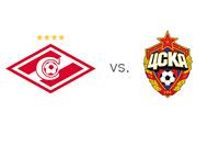 Spartak vs. CSKA - Russian Derby - Premier League Matchup - Team Logos