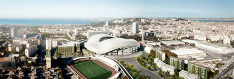 Stade Velodrome Project - Renovations - Areal Photo - October 2014