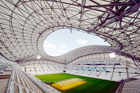 Olympique de Marseille stadium - Stade Velodrome - Post Renovations - Photo from the inside