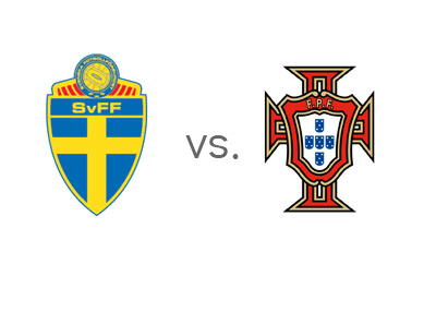 WCQ Matchup - Sweden vs. Portugal - Team Crests