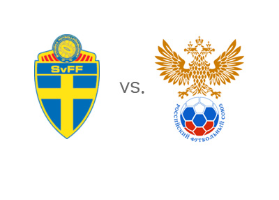Euro Cup Qualifiers - Sweden vs. Russia - Matchup and Odds - Team Logos / Badges - Head to Head