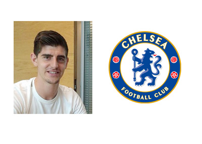 Thibaut Courtois - New Five-Year Deal - Chelsea FC - Logo - Contract Signing Photo - Instagram