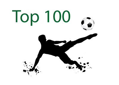 Top 100 Football Players - Illustration - Drawing - Player Kicking the Ball