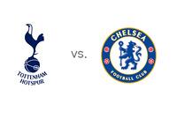 English Premier League (EPL) Matchup - Tottenham Hotspur vs. Chelsea FC - Team Logos