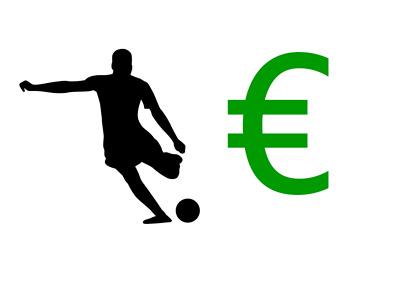 Transfer Season - Illustration - Footballer Silhouette next to the Euro symbol