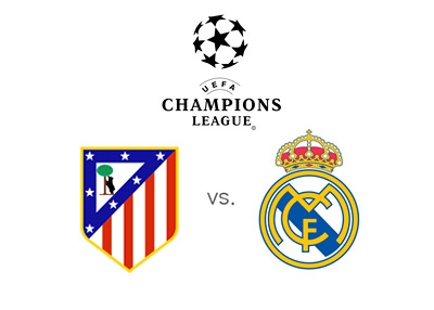 UEFA Champions League Preview - Atletico Madrid vs. Real Madrid - Odds, Matchup and Team Logos