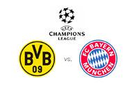 UEFA Champions League finals - Borussia Dortmund vs. Bayern Munich - Matchup and Logos