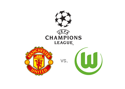 UEFA Champions League matchup - Manchester United vs. Wolfsburg - Team logos, preview and odds