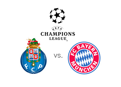UEFA Champions League matchup - FC Porto vs. Bayern Munich - Preview - Odds - Tournament logo and team crests
