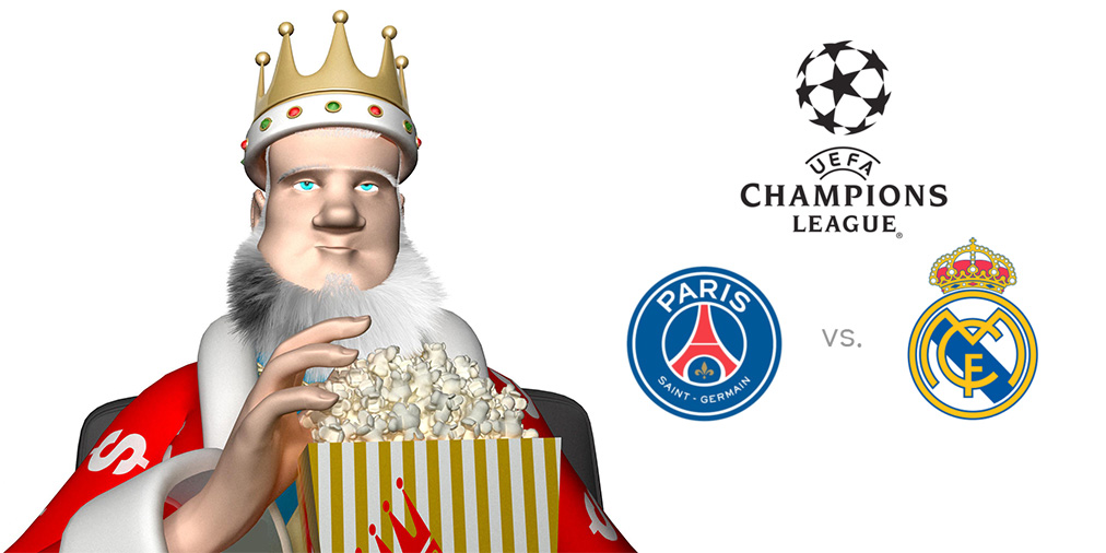 The King presents the upcoming UEFA Champions League matchup between PSG and Real Madrid - Winning odds and game preview