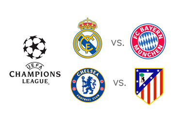 The UEFA Champions League Semi-Final 2014 - Bayern vs. Real Madrid and Chelsea vs. Atletico