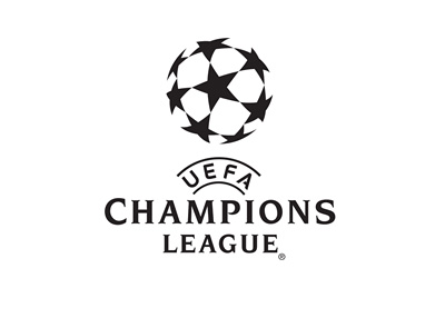 The UEFA Champions League logo - Stylized in 3D - Black and blue