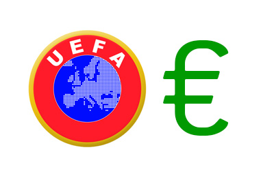 UEFA logo next to the Euro sign