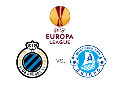 UEFA Europa League matchup - Football - Club Brugge vs. Dnipro Dnipropetrovsk - Preview, Odds - Tournament logo and club crests