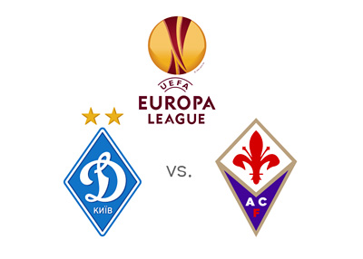 UEFA Europa League matchup - Dynamo Kyiv vs. Fiorentina - Preview - Odds - Tournament logo and team crests - Faceoff