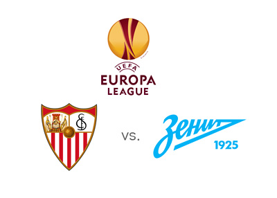 UEFA Europa League matchup - Sevilla vs.Zenit St. Petersburg - Odds and Preview - Tournament logo and team crests