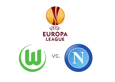UEFA Europa League matchup - Wolfsburg vs. Napoli - Odds and Preview - Tournament logo and team crests
